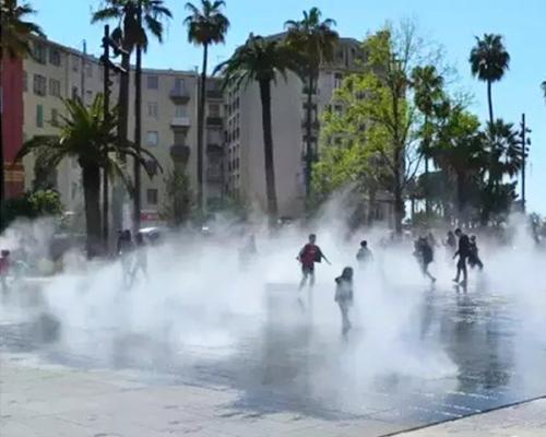 广场喷雾景观降温