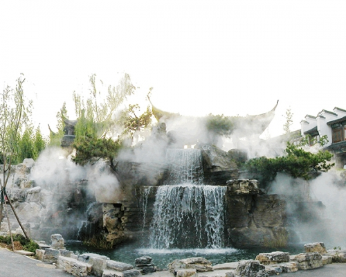 假山喷雾景观