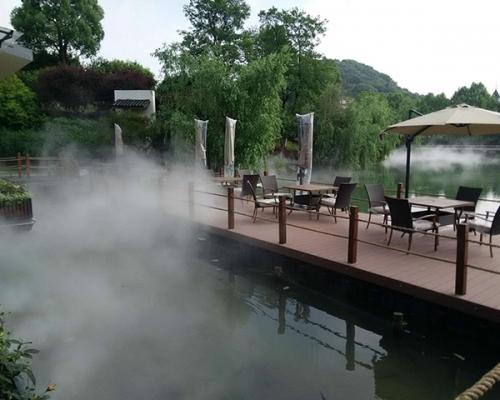 售楼处小区喷雾景观