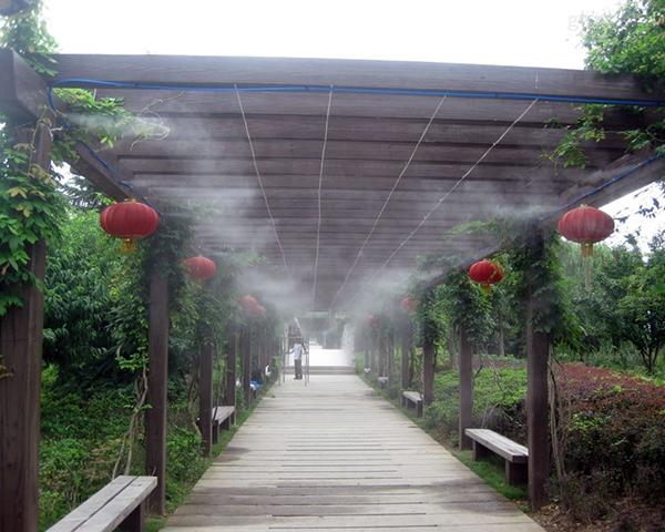 走廊喷雾降温